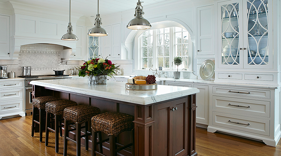 Kitchen Marble topped island