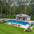 Pool area in Fairfield County